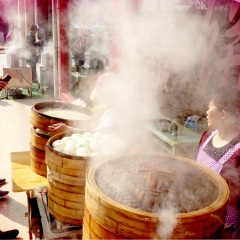 steamed bamboo baskets